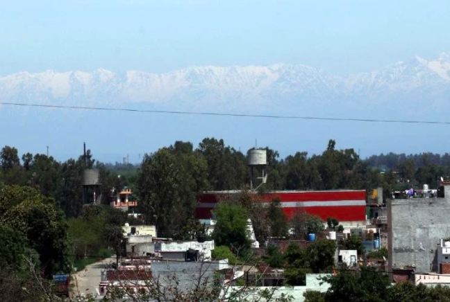 Mountain Ranges visible from Jalandhar