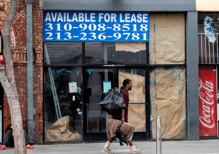 A closed business in Santa Monica, California. (AFP)