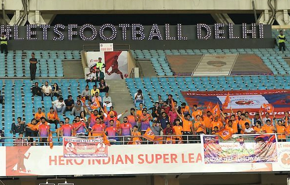 ISL club Delhi Dynamos played to almost no crowd at the Jawaharlal Nehru Stadium in New Delhi