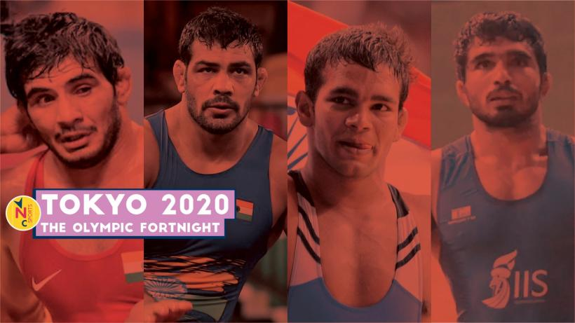 Indian wrestling team Olympic trials for 74kg freestyle segment