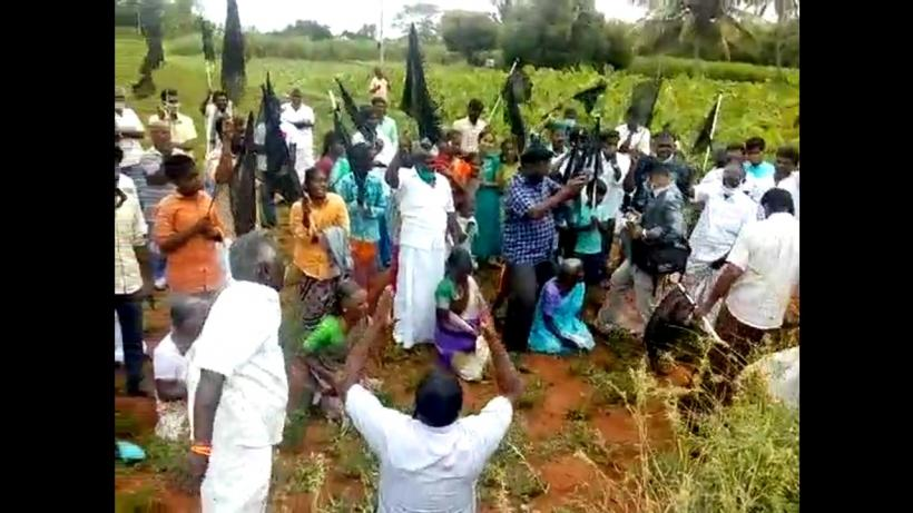 Farmers protest against Chennai-Salem Green Corridor Project