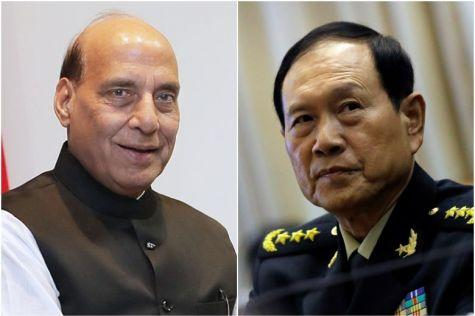 Rajnath Singh and Chinese Defence Minister General Wei Fenghe