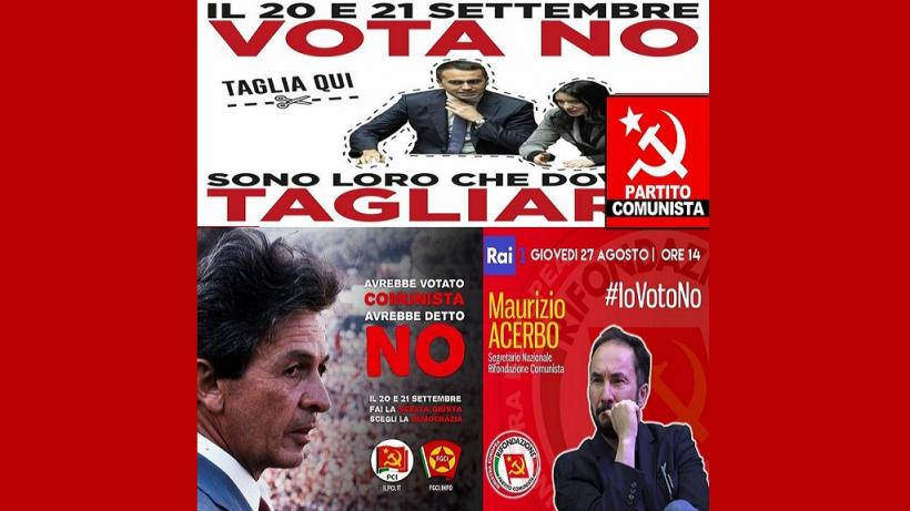 Communists in Italy had opposed the reduction of the number of elected parliamentarians and given a call to vote 'NO' in the referendum.