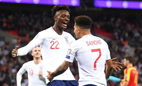Tammy Abraham and Jadon sancho of England football team