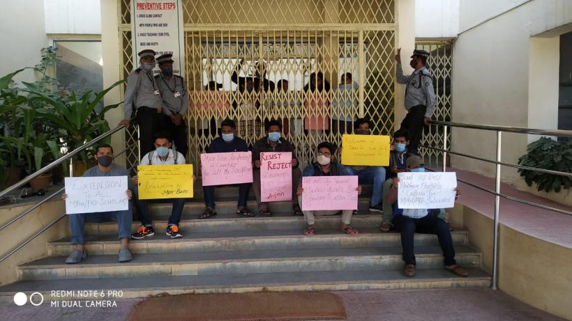 Hyderabad University Students' Protest, Demand that Admin Fills up Vacant Seats