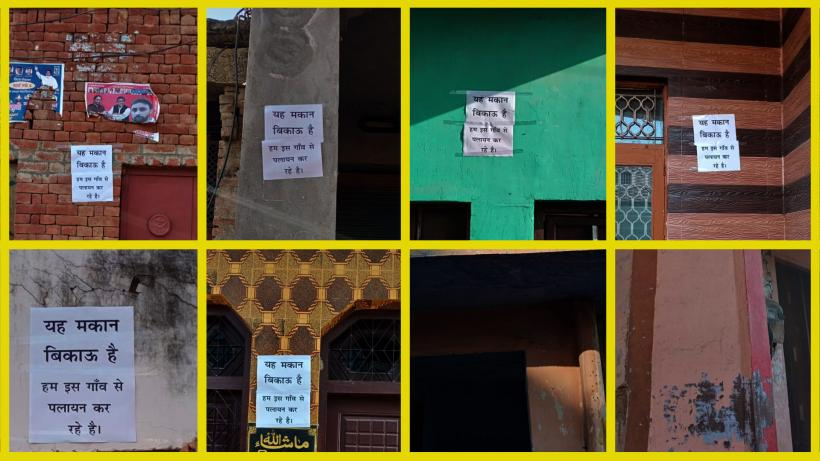 UP: Fearful of Violence, Muslims Families Put Up 'For Sale' Posters on Homes, Shops in Mavi