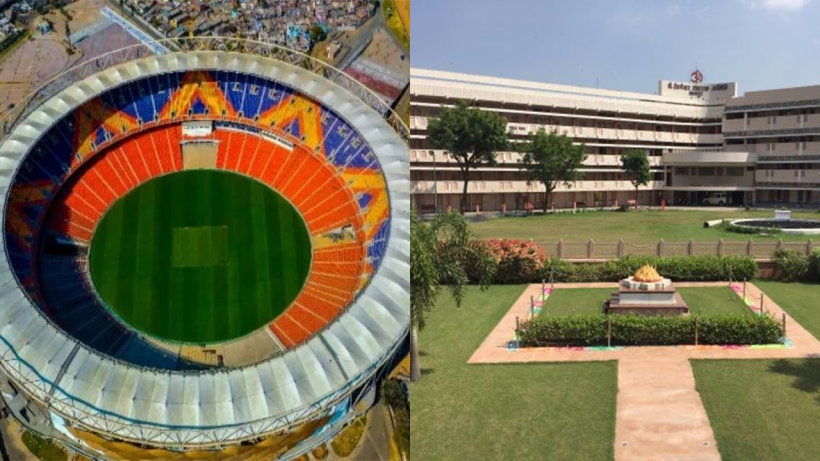 Motera Stadium and RSS nagpur headoffice