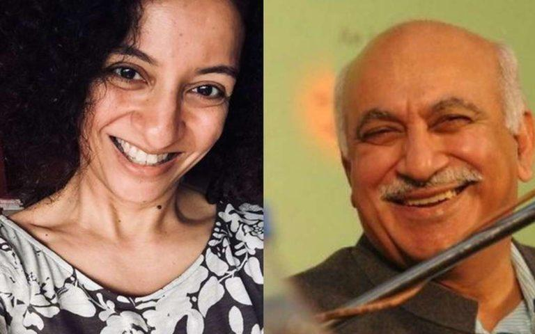 Priya Ramani and MJ Akbar.
