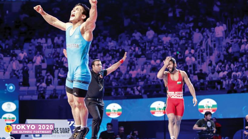 Bajrang Punia after his defeat at the 2019 World Championships
