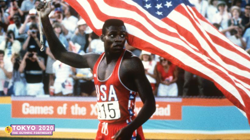 American sprint legend Carl Lewis