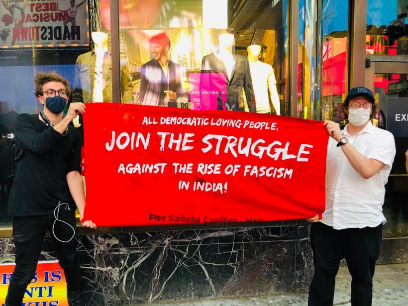 Protest at Times Square against Hate politics in India